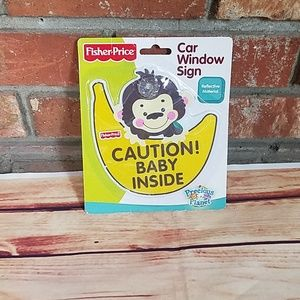 New car window sign caution baby inside